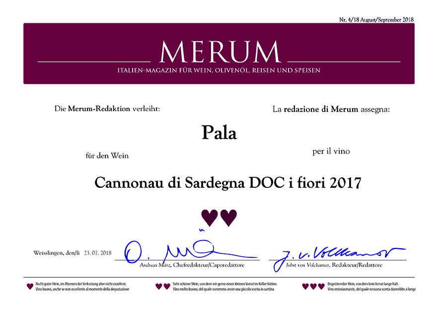Merum Auszeichnung: Pala Cannonau